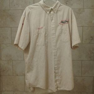 Vintage Bud Dry Pinstripe Delievery Shirt